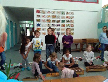 Abschlußfeier der Klasse 1A der Grundschule Mittelstetten / Althegnenberg